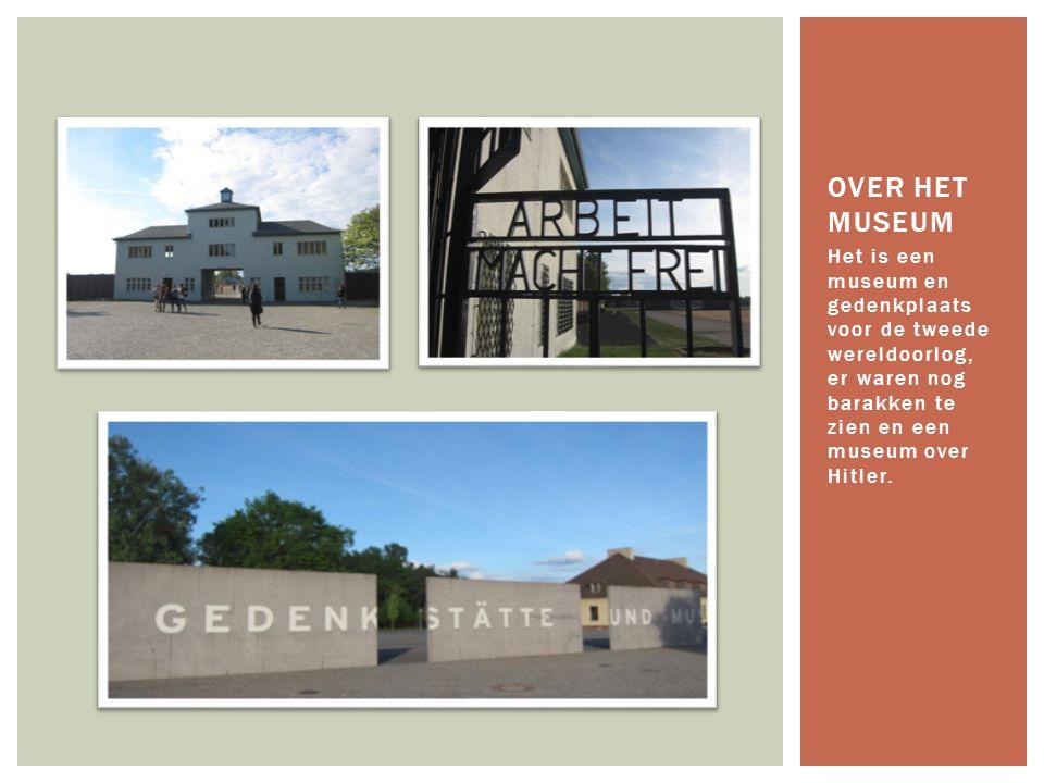 Het is een museum en gedenkplaats voor de tweede wereldoorlog, er waren nog barakken te zien en een museum over Hitler. OVER HET MUSEUM