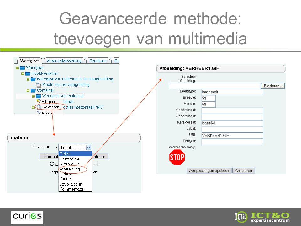Geavanceerde methode: toevoegen van multimedia