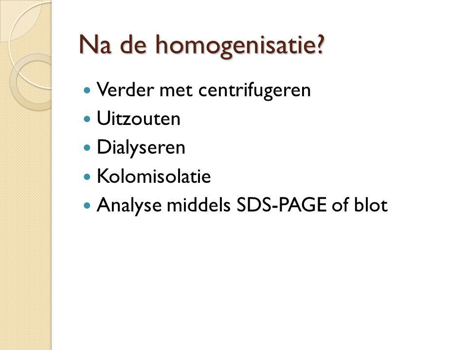 Na de homogenisatie.