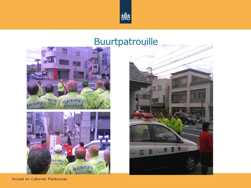 Sociaal en Cultureel Planbureau Buurtpatrouille