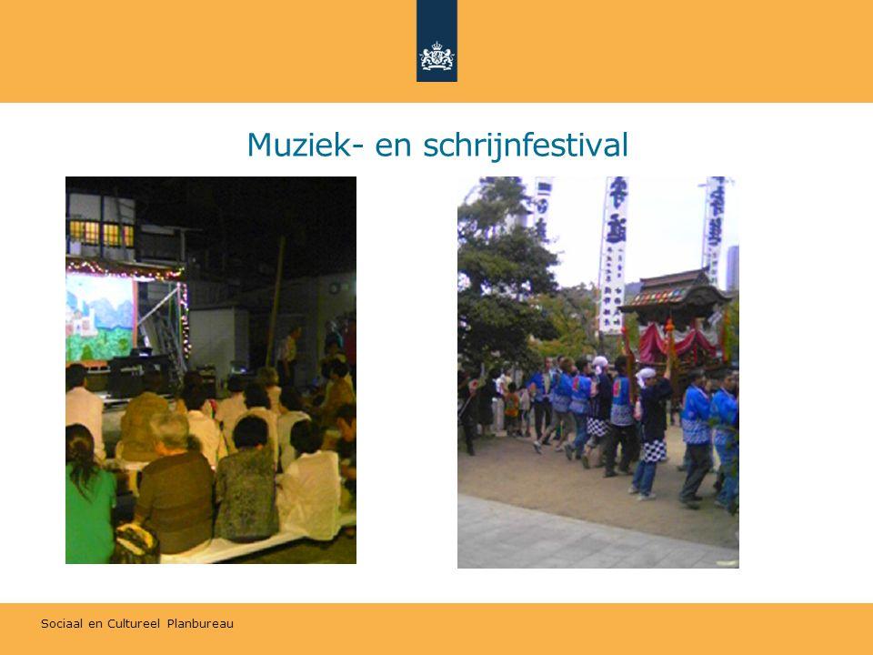 Sociaal en Cultureel Planbureau Muziek- en schrijnfestival