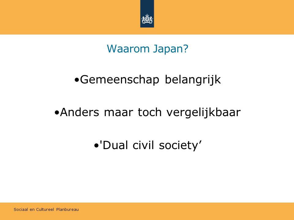 Sociaal en Cultureel Planbureau Waarom Japan.
