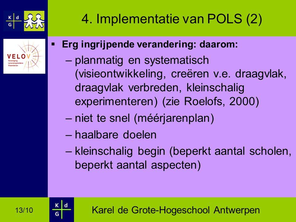 Karel de Grote-Hogeschool Antwerpen 13/10 4.