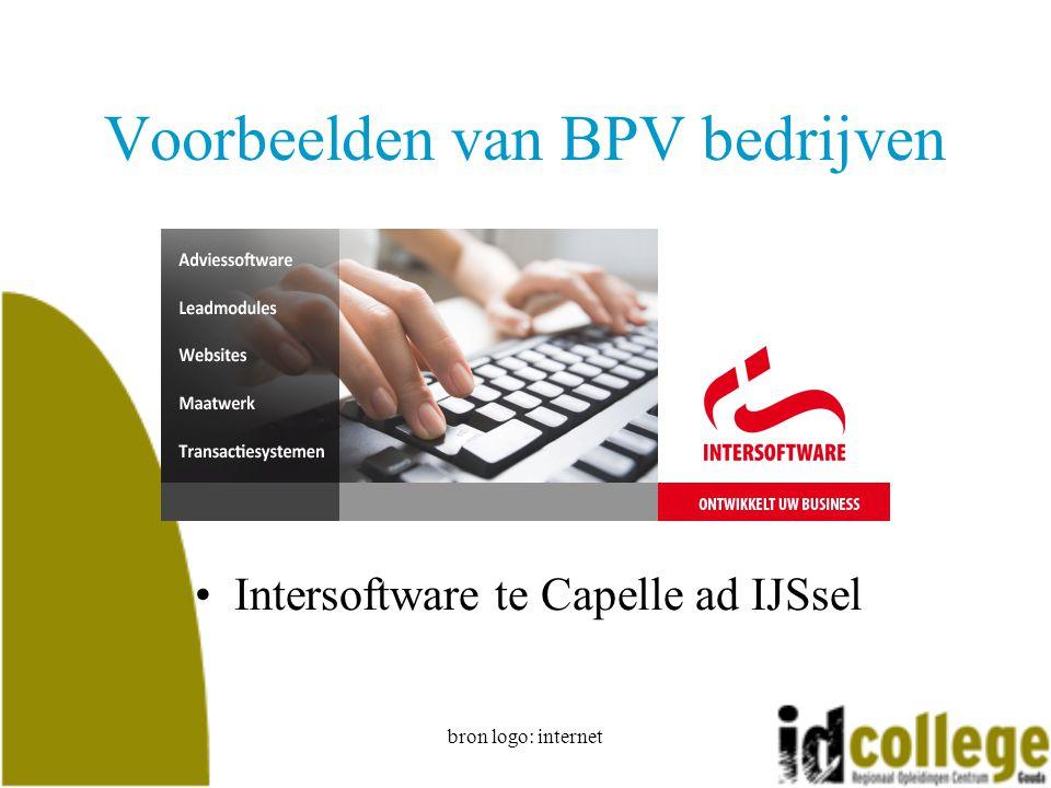 bron logo: internet Voorbeelden van BPV bedrijven Intersoftware te Capelle ad IJSsel