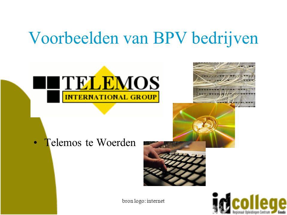 bron logo: internet Voorbeelden van BPV bedrijven Telemos te Woerden