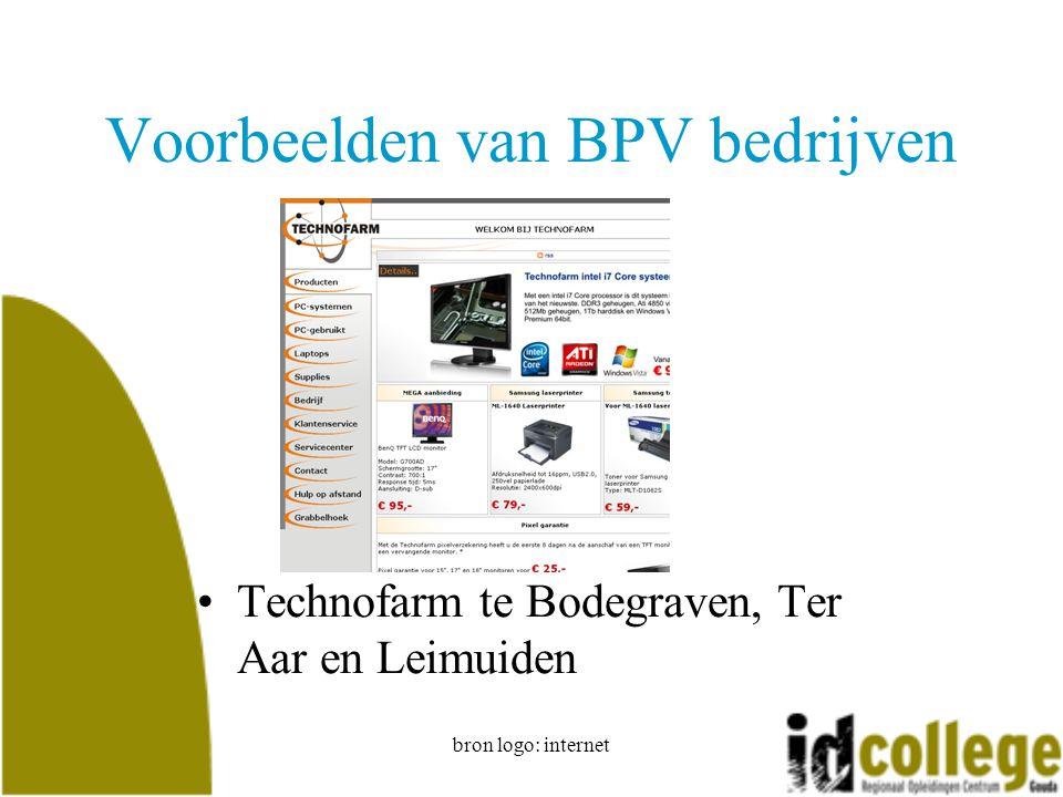 bron logo: internet Voorbeelden van BPV bedrijven Technofarm te Bodegraven, Ter Aar en Leimuiden