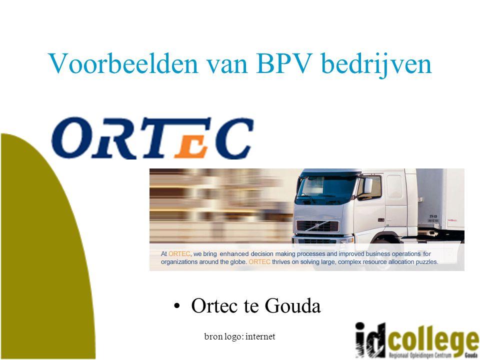 bron logo: internet Voorbeelden van BPV bedrijven Ortec te Gouda