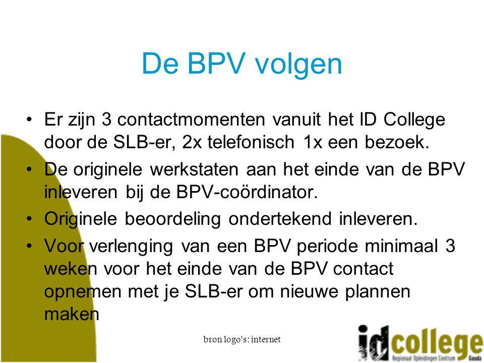 De BPV volgen Er zijn 3 contactmomenten vanuit het ID College door de SLB-er, 2x telefonisch 1x een bezoek.