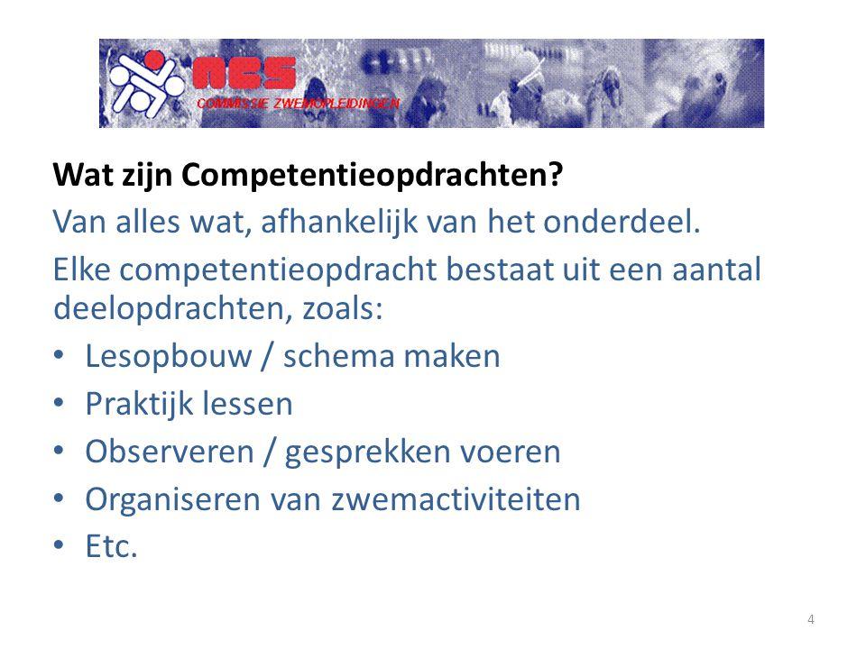 Wat zijn Competentieopdrachten? Van alles wat, afhankelijk van het onderdeel. Elke competentieopdracht bestaat uit een aantal deelopdrachten, zoals: L