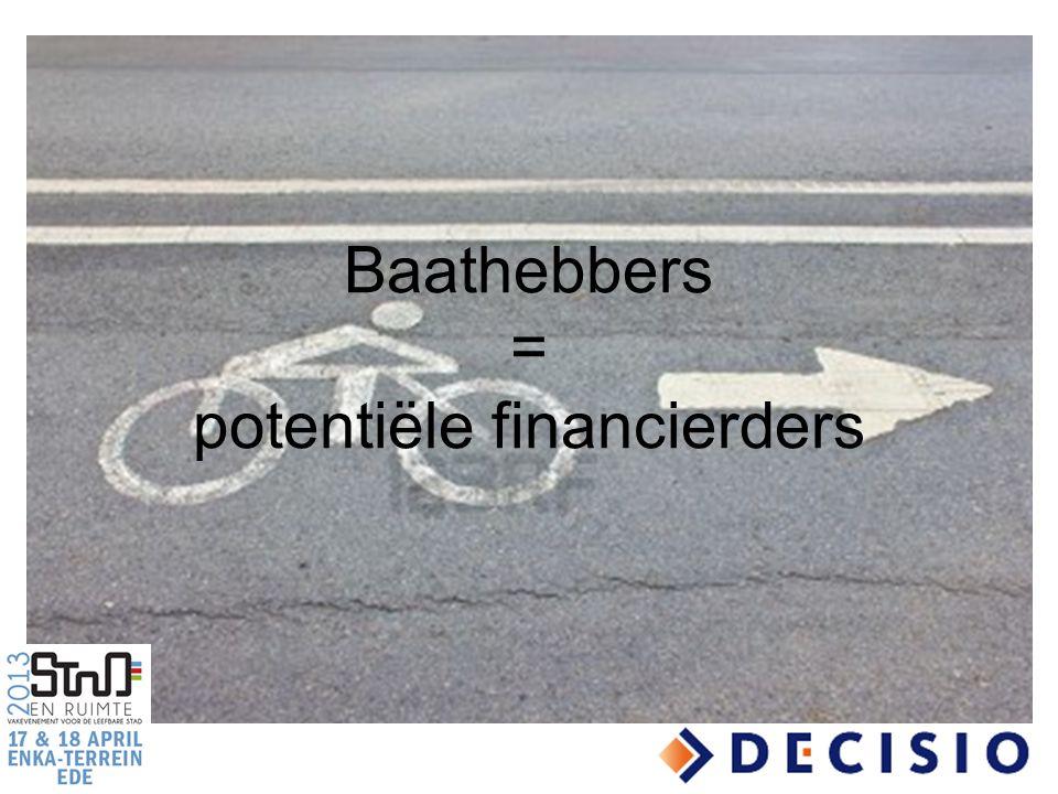 Baathebbers = potentiële financierders