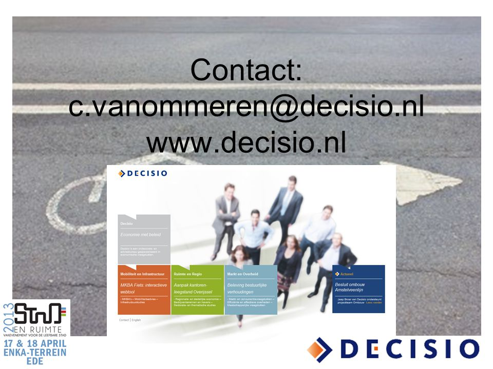 Contact: c.vanommeren@decisio.nl www.decisio.nl