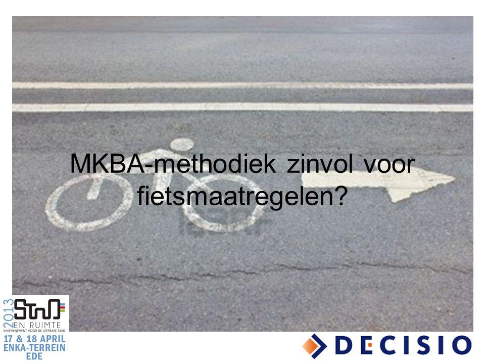 MKBA-methodiek zinvol voor fietsmaatregelen?