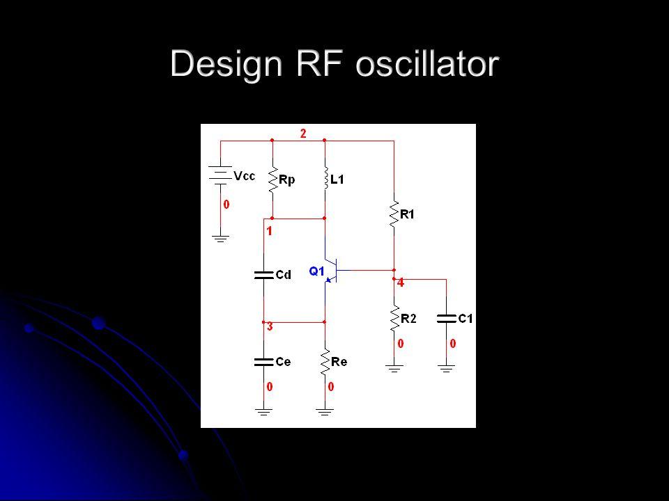 Datasheet BB112: C D(min) = 24 pF (V D = -8 V) en C D(max) = 420 pF (V D = -1,2 V) Datasheet BF240: F T > 150 MHz  A V(max) = 150 MHz / 2,057 MHz = 73 Stel A V(max) = 50 Startvoorwaarde oscillator: B min ∙A V(max) > 1 B min geldt bij f max omdat B = C tot /C E dan minimaal is.