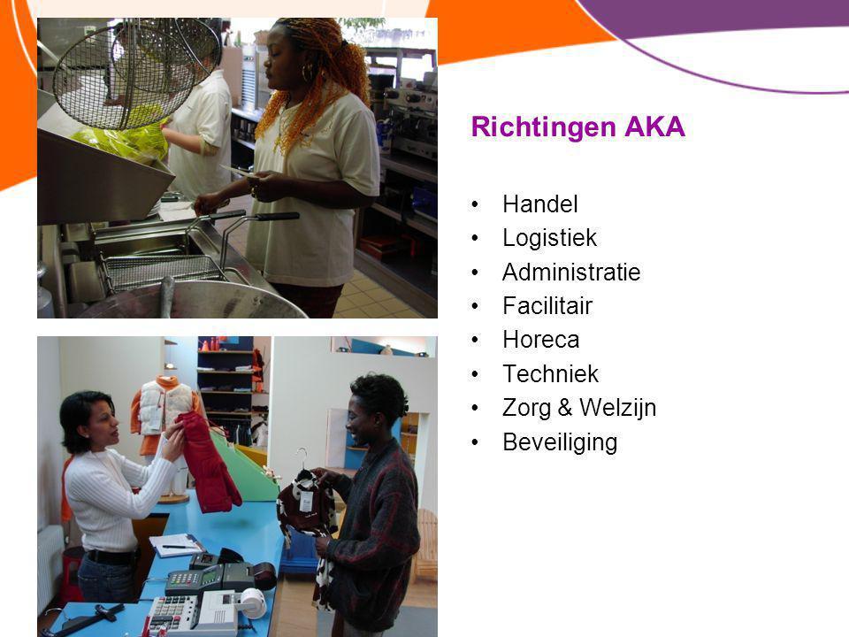 Richtingen AKA Handel Logistiek Administratie Facilitair Horeca Techniek Zorg & Welzijn Beveiliging