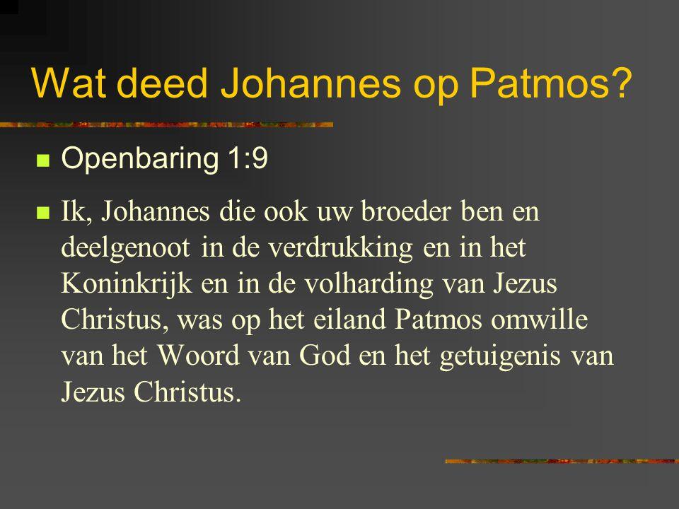 Lezen Openbaring 1: 9-20