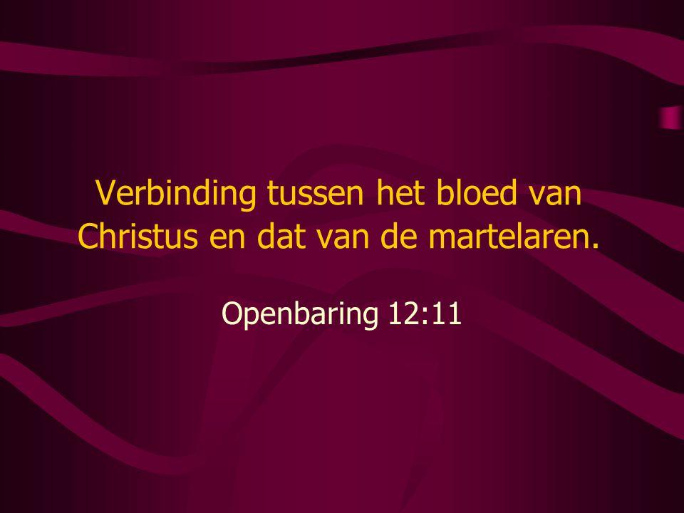 Verbinding tussen het bloed van Christus en dat van de martelaren. Openbaring 12:11