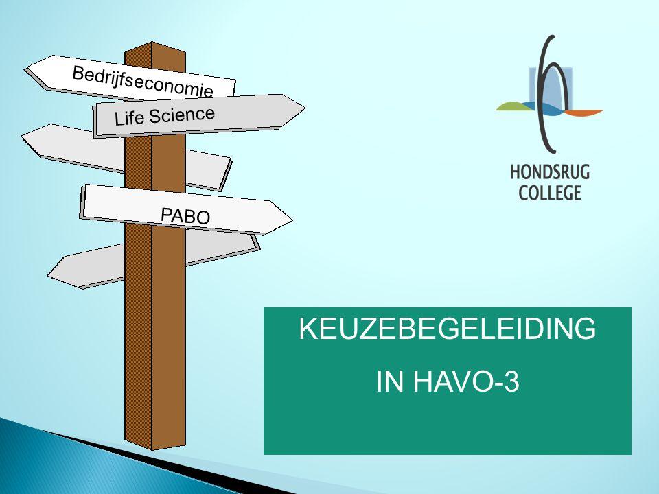 PABO Bedrijfseconomie KEUZEBEGELEIDING IN HAVO-3 Life Science