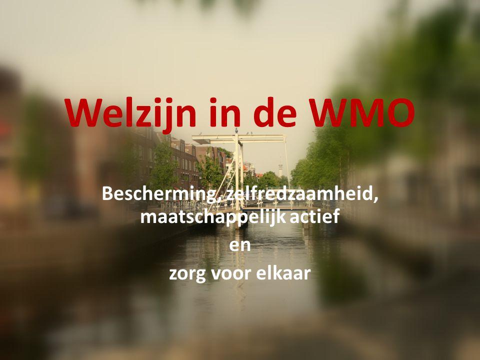 Welzijn in de WMO AWBZ (huishoudelijke hulp) Wet voorziening gehandicapte WELZIJNSWET