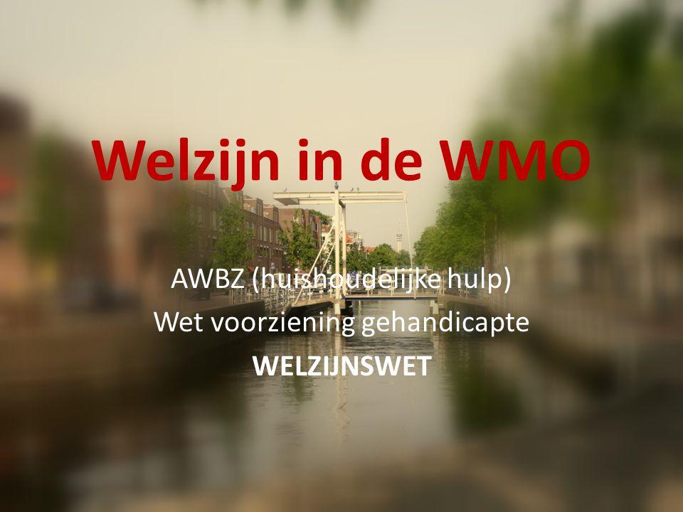 Welzijn in de WMO 9 prestatievelden