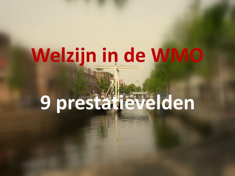 Welzijn in de WMO 1.Sociale samenhang en leefbaarheid 2.