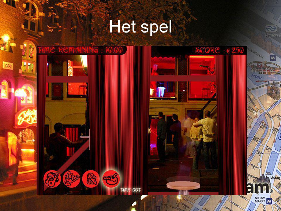 distributie Het spel staat online op iamsterdam.nl Flyers worden verkocht in souvenirshops om het product te promoten Tevens is het product ook te bespelen op 1 van de bekendste plekken (casa rosso, bananenbar) op de wallen
