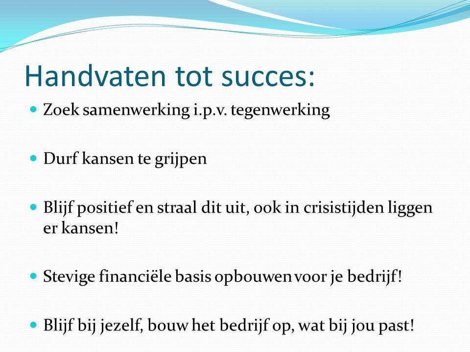 Handvaten tot succes: Zoek samenwerking i.p.v.
