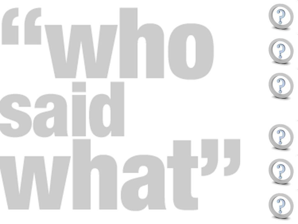Actorenperceptie : Welke uitspraak hoort bij wie.