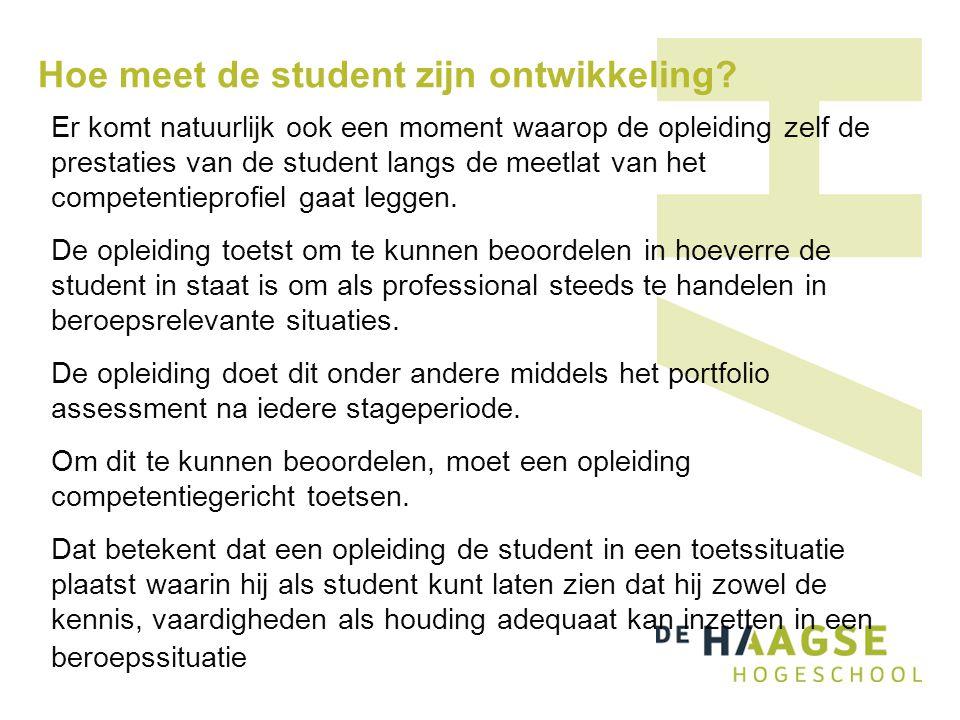 Hoe meet de student zijn ontwikkeling.