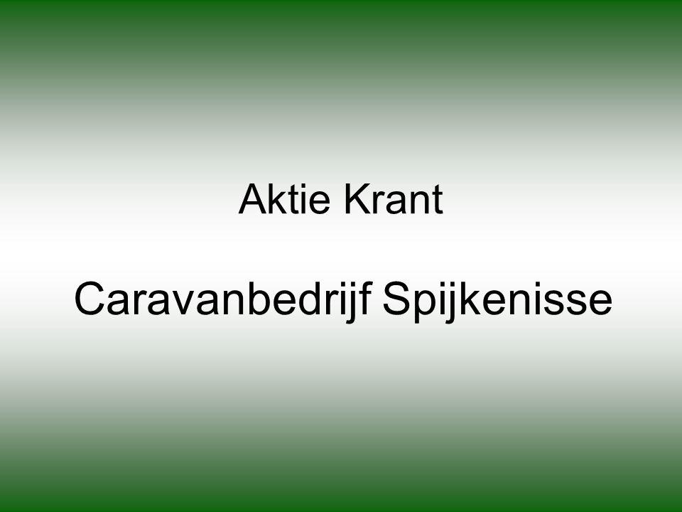 Aktie Krant Caravanbedrijf Spijkenisse