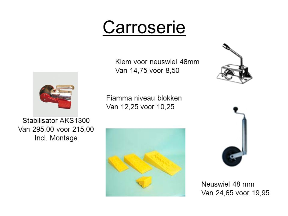 Carroserie Stabilisator AKS1300 Van 295,00 voor 215,00 Incl.