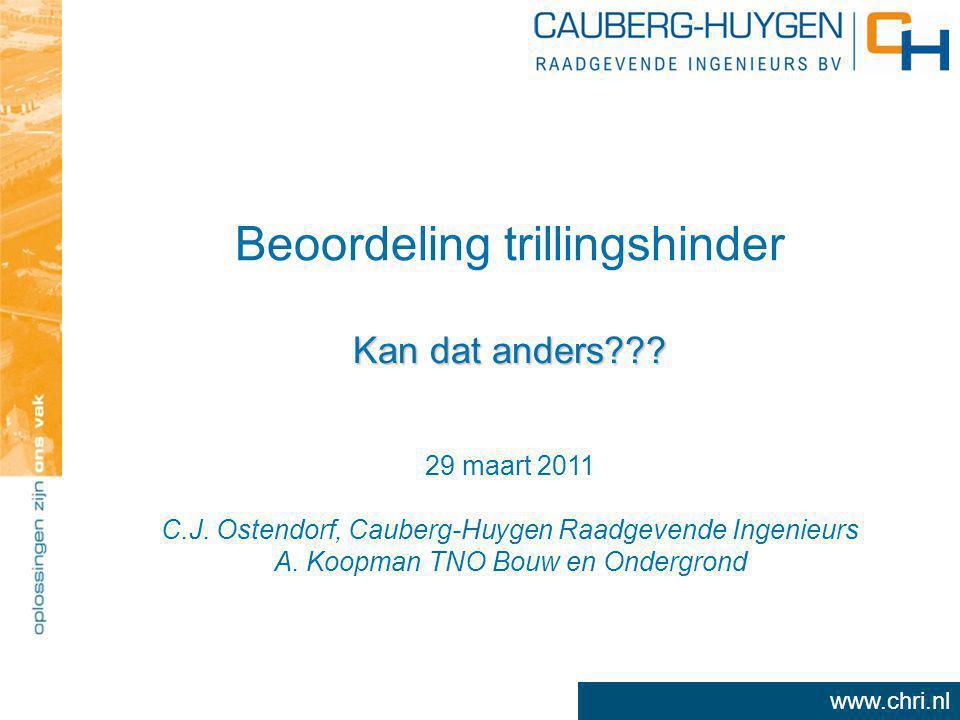www.chri.nl Beoordeling trillingshinder Kan dat anders .