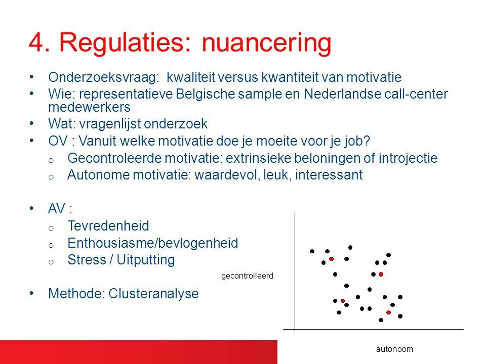 Onderzoeksvraag: kwaliteit versus kwantiteit van motivatie Wie: representatieve Belgische sample en Nederlandse call-center medewerkers Wat: vragenlij