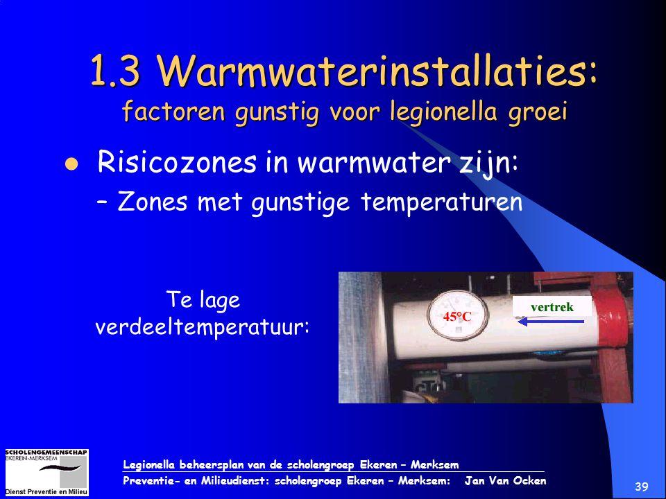 Legionella beheersplan van de scholengroep Ekeren – Merksem Preventie- en Milieudienst: scholengroep Ekeren – Merksem: Jan Van Ocken 39 1.3 Warmwateri