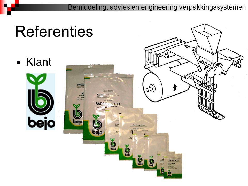 Referenties  Klant Bemiddeling, advies en engineering verpakkingssystemen RABEKO