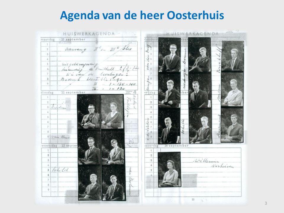 Agenda van de heer Oosterhuis 3
