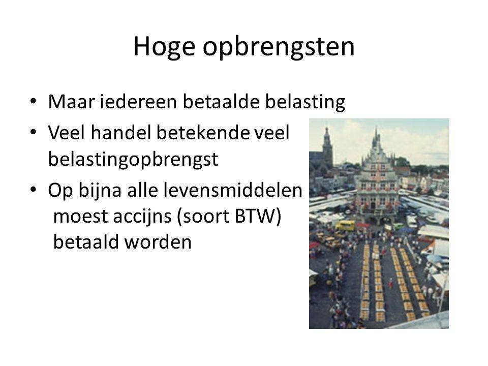 Holland Holland betaalde 58% van de kosten Daardoor had het gewest veel invloed Zo kon de raadpensionaris van Holland de machtigste man van de Republiek worden Bijvoorbeeld Johan de Witt