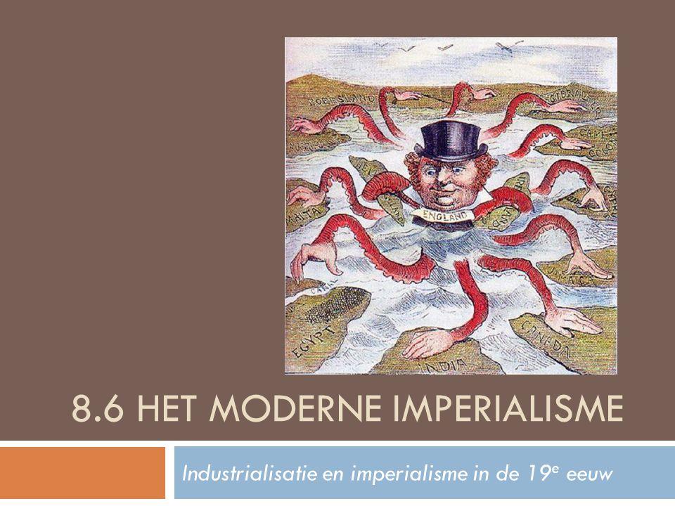 Imperialisme  [def.] Imperialisme = het overheersen van andere volken en gebieden / het vormen van een groot wereldrijk (= imperium, Lat.)