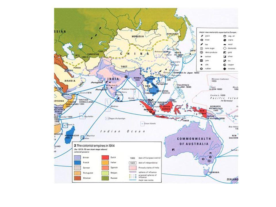 De 'tweede industriële revolutie' Gevolgen van het modern imperialisme  De industriële ontwikkeling kwam in een stroomversnelling  er kwamen grote concerns + nieuwe industrieën, zoals elektrotechnische, chemische, staal- en olie – industrie.