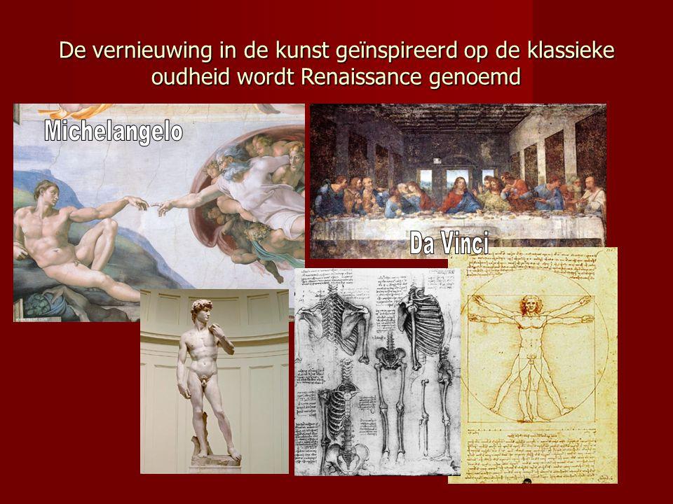 De vernieuwing in de kunst geïnspireerd op de klassieke oudheid wordt Renaissance genoemd