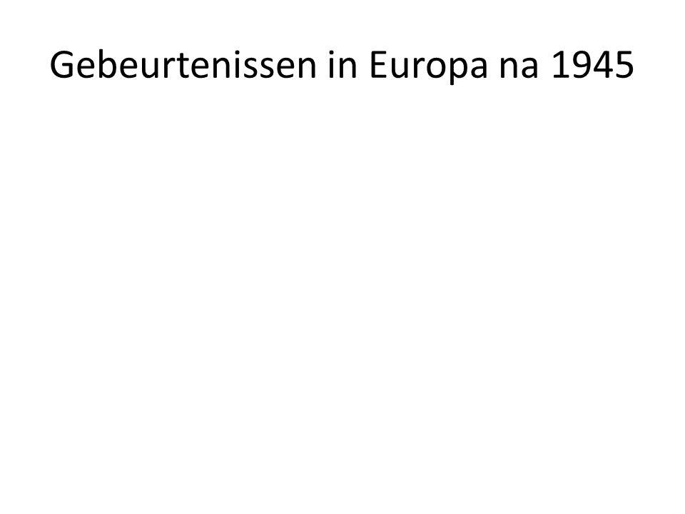Gebeurtenissen in Europa na 1945