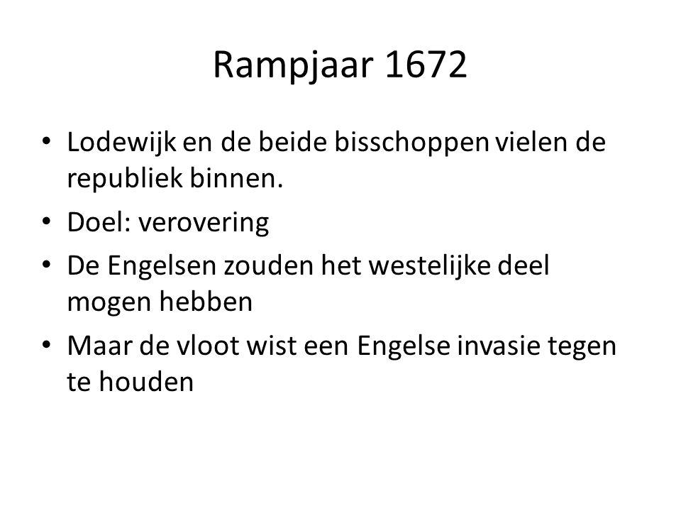 Rampjaar 1672 Lodewijk en de beide bisschoppen vielen de republiek binnen.