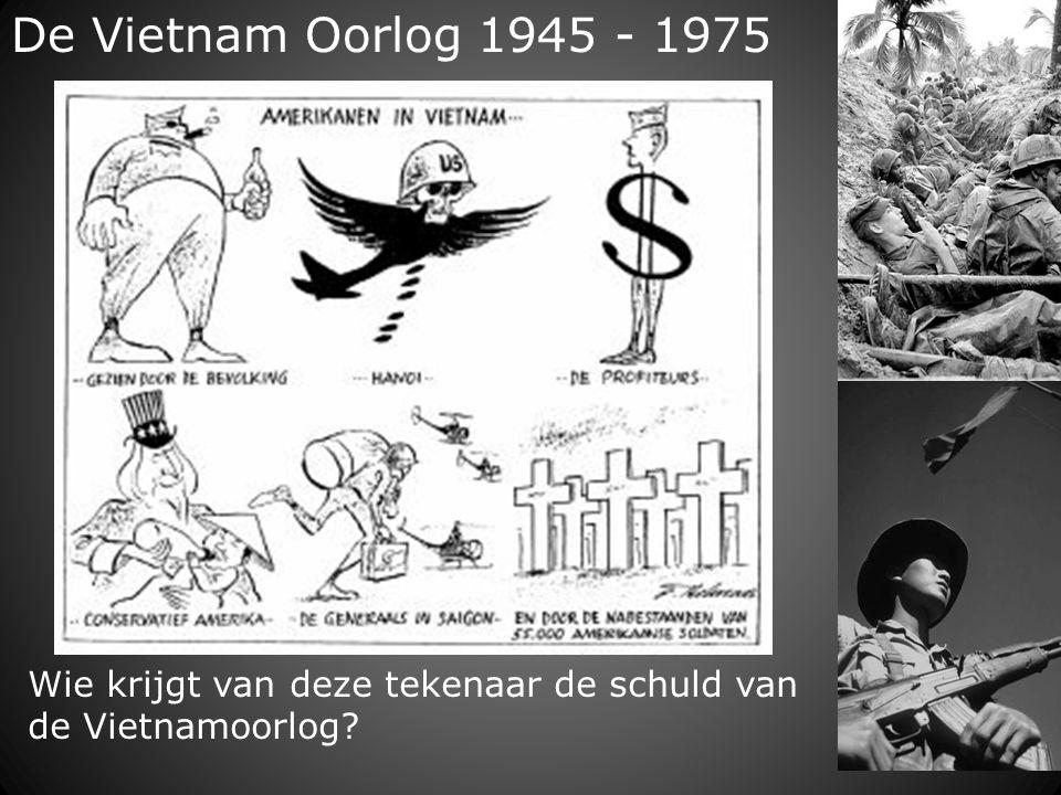De Vietnam Oorlog 1945 - 1975 Wie krijgt van deze tekenaar de schuld van de Vietnamoorlog?