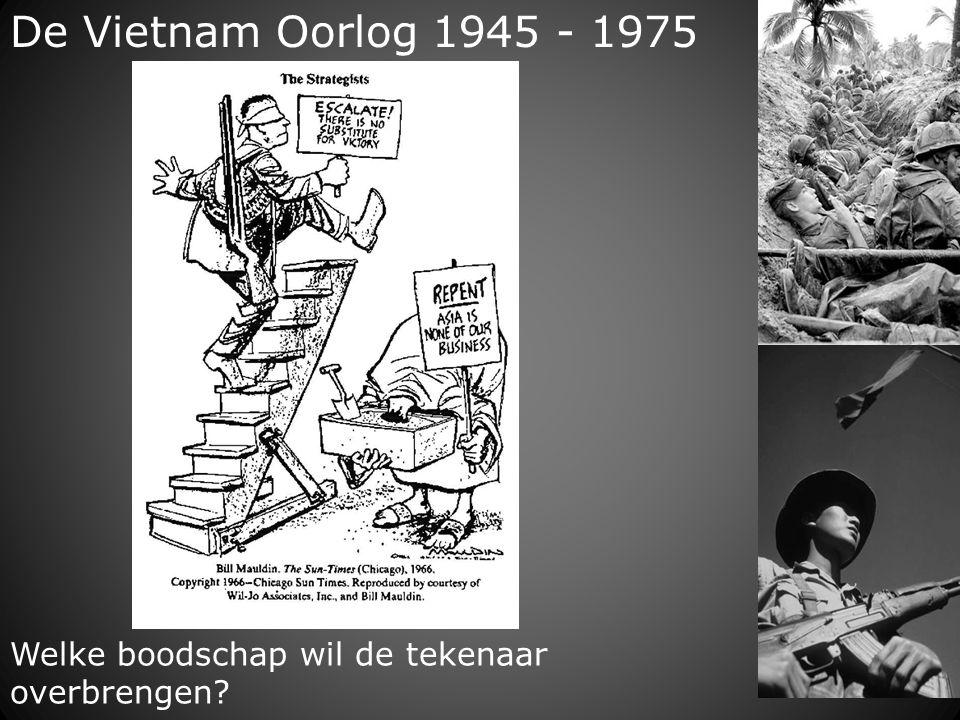 De Vietnam Oorlog 1945 - 1975 Welke boodschap wil de tekenaar overbrengen?