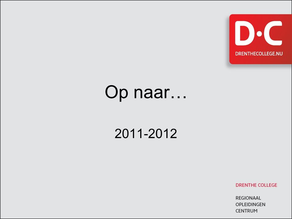 Op naar… 2011-2012