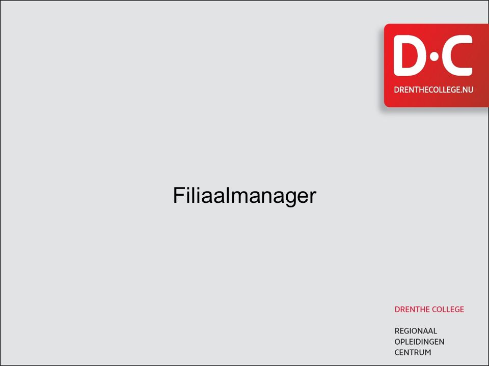 Filiaalmanager