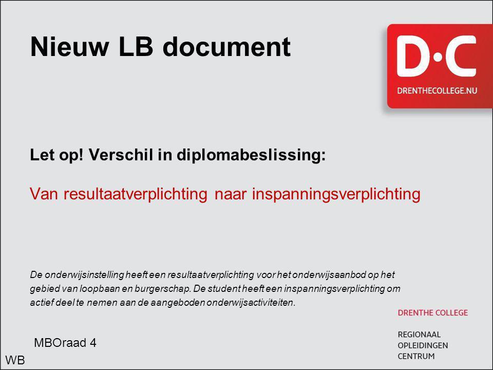 Nieuw LB document Let op.