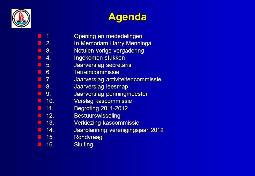 Opening en Mededelingen Opening door de Voorzitter