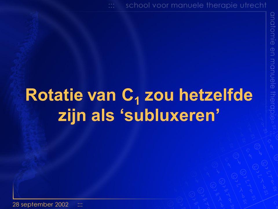 Bogduk (2000): rotatie is subluxatie