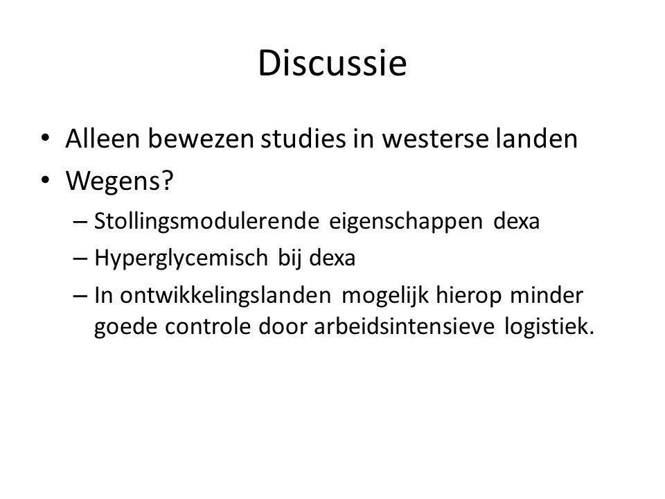 Discussie Alleen bewezen studies in westerse landen Wegens.