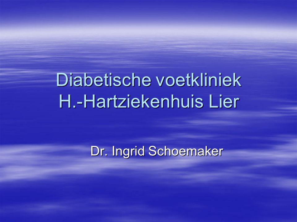 Diabetische voetkliniek H.-Hartziekenhuis Lier Dr. Ingrid Schoemaker